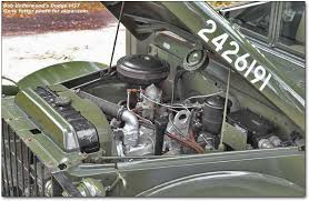 leo underwood s vintage dodge and willys military trucks m37 engine