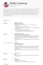 Web Consultant Resume Samples Visualcv Resume Samples Database