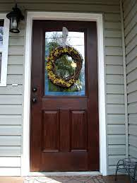 american walnut painted front doors