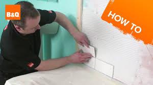 How To Tile A Bath Splashback Part  Fixing The Tiles YouTube - Bathroom splashback