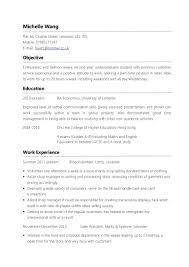Part Time Job Resume Template