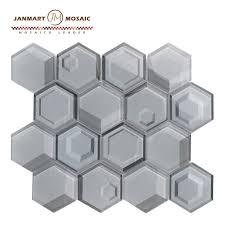 foshan factory inkjet crystal glass mosaic tile