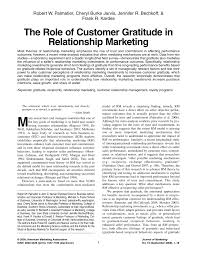 The Role of Customer Gratitude in Relationship Marketing (PDF ...