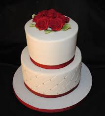Small Wedding Cake Just A Simple Wedding Cake Iced In But