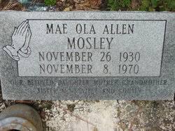 Mae Ola Allen Mosley (1930-1970) - Find A Grave Memorial