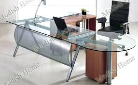 contemporary glass office furniture. Glass Top Office Desk Executive Officeworks . Contemporary Furniture