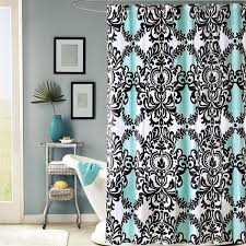 Intelligent Design Mia Aqua Printed Shower Curtain Free Shipping