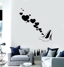 removable wall art decals removable wall art decals elegant vinyl wall decal fashion shoes style