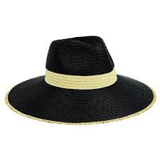 FEDORA - WOMENS W/ NATURAL INSET AND FRAYED EDGE (PBF7310) San Diego