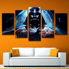 5 piece star wars canvas wall art darth vader on star wars canvas panel wall art with 5 piece pcs star wars canvas panel wall art darth vader picture
