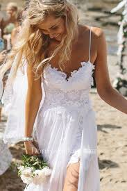 <b>Elegant Spaghetti Straps</b> Lace Appliqeus Beach Prom Dress Long ...