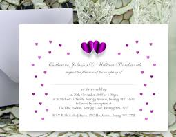 wedding invitations with hearts 061 purple hearts wedding invitations josephine and daughters