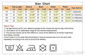 Newborn Baby Clothes Size Chart 2019 Newborn Baby Clothes Factory Famous Brand Kids Clothing Set Toddler Outfit Set For Infant Little Boys Hoodie Tops Shirt And Pants From Formore