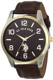 buy u s polo assn classic men s usc50225 watch brown buy u s polo assn classic men s usc50225 watch brown leather band online at low prices in amazon in