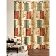 full image for burnt orange coloured curtains tranquility inspirational sentiments fabric shower curtain rust colored dries