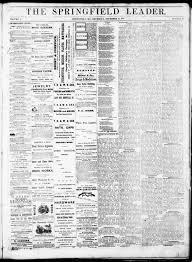 Springfield Leader Springfield Mo 1871 12 21