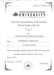 Sample Degree Certificates Of Universities Eiilm University Degree Certificate Sample 2019 2020