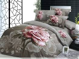 rose bedding gray and pink rose painting pink rose comforter of queen cotton material from rose bedding