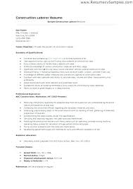 General Laborer Job Description General Labour Resume Sample General ...