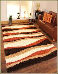 stunning burnt orange area rug with brown and