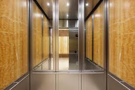 elevator interior door. cabforms series 2000-n elevator interior with rear wall upper inset panels in st door c