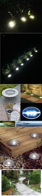 in ground lighting. Solar Powered LED Lamp Stainless Steel In Ground Light Outdoor Garden Pathway Deck Marker Lighting