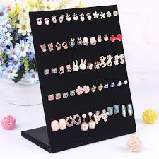 Earring Stands And Displays Gorgeous 32 Earrings Display Stand Rotating Earring Stand 32holds Borwn