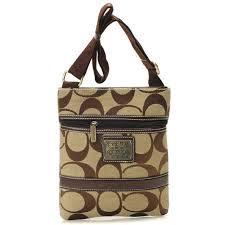 ... coach legacy swingpack in signature small khaki crossbody bags auy