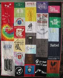 Gefilte Quilt: New York Fabric Tee Shirt Quilt Back & It was supposed to be her going-to-college quilt, but I finished it in  December, just one semester late. The front has tees from her school years  here in ... Adamdwight.com