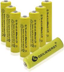 Solar Batteries For Outdoor Solar Lights Geilienergy Aa Size Nicd Aa 600mah 1 2v Rechargeable Batteries For Solar Lamp Solar Light 8 Pcs