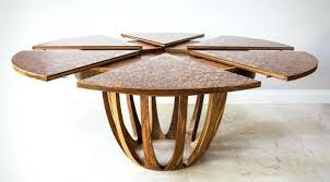 expanding table round extending kitchen folks this is how an expandable should be done delectable furniture