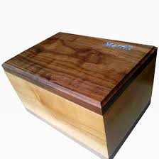 maple and walnut keepsake box with turquoise inlay by terry stone