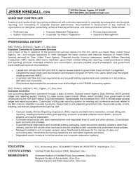 Sample Controller Resume Sample Assistant Controller Resume Free Resume Templates 12