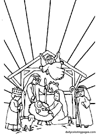 Small Picture nativity scene printables preschool nativity coloring pages