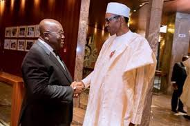 Image result for buhari at ghana swearing in