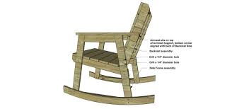 set the rocking chair upright using clamps position the backrest assembly to the side frame assemblies as shown the bottom corner of the armrest should