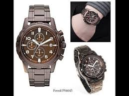 fossil dean stainless steel watch brown for men model fs4645 fossil dean stainless steel watch brown for men model fs4645 quick review