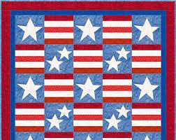 Stars stripes quilt | Etsy & Stars and Stripes Patriotism Quilt Pattern - INSTANT DOWNLOAD Adamdwight.com