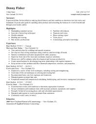 Experienced Hair Stylist Resume Sample With Work History For Job