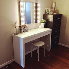 vanity wall mirrors for bathroom simple modern white table and lighted mirror also tall dresser with lights mount makeup bronze mounted tray mirrored