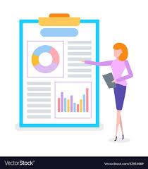 What Is Flip Chart Presentation Businesswoman On Presentation Flip Chart