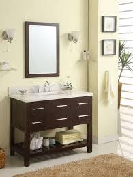 excellent 42 inch single sink modern cherry bathroom vanity with open shelf intended for bathroom vanity 42 inch attractive