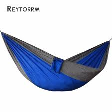 camping hammock lightweight portable double parachute hammocks mosquito nylon for indoor outdoor hiking backpack