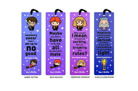 these harry potter bookmarks make reading more magical