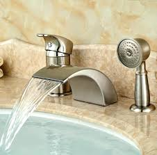 bathtub faucet with hand shower wall mount bathtub faucet with hand shower stop 5 hole tub