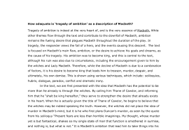 how adequate is tragedy of ambition as a description of macbeth  document image preview