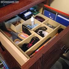 diy desk drawer organizers