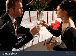 Candle Light Dinner Dress Couple Have Candle Light Dinner Stock Image Download Now