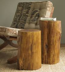 tree stump furniture. Creative Home Furniture Designs Using Tree Stump End Tables : Divine Cylinder