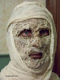 picture of pleted mummy head
